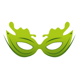 Travel green carnival mask