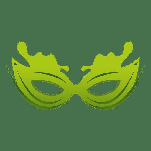 Máscara de carnaval verde de viagem Transparent PNG