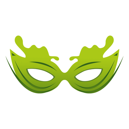 Travel green carnival mask Transparent PNG