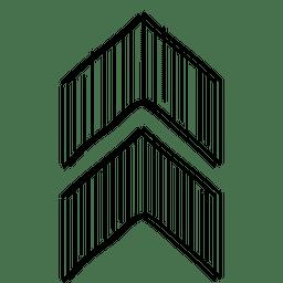 Cursor de ponta de seta triangular