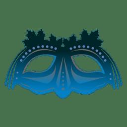 Máscara de carnaval de turquesa
