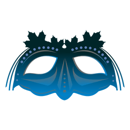 Türkis Karneval Maske