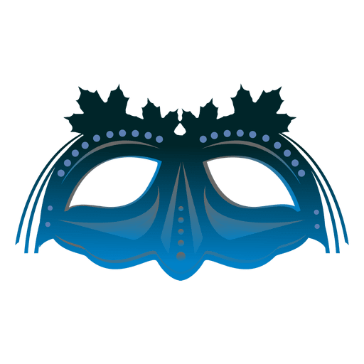 Turquoise carnival mask Transparent PNG