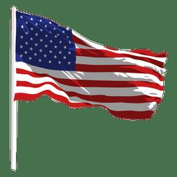 Estados, estados, waving, bandeira