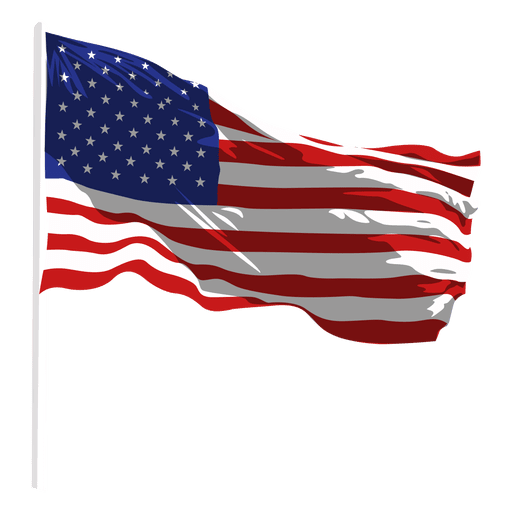 United states waving flag Transparent PNG