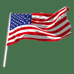 Bandera que agita de los eeuu