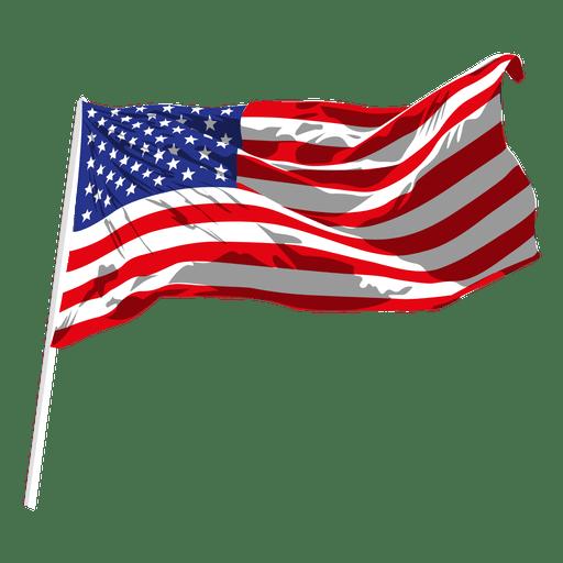 Estados Unidos ondeando la bandera