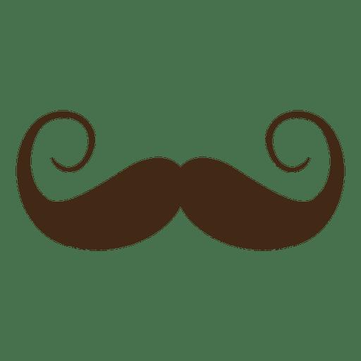 Bigote marrón vintage de san patricio