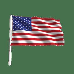 Ondeando bandera americana