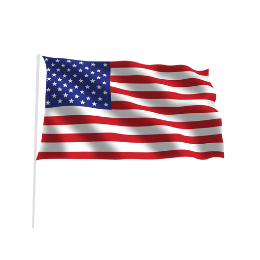 Ondeando bandera americana Transparent PNG