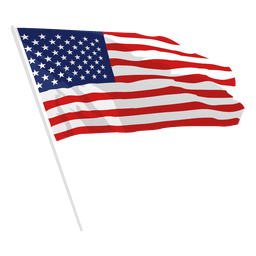 Bandera de los Estados Unidos que agita