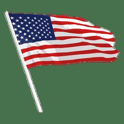 Ondeando bandera de estados unidos