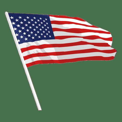 Waving united states flag