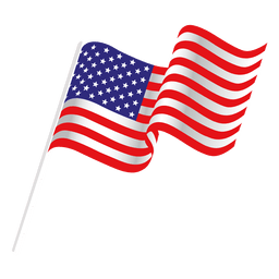 Waving usa flag