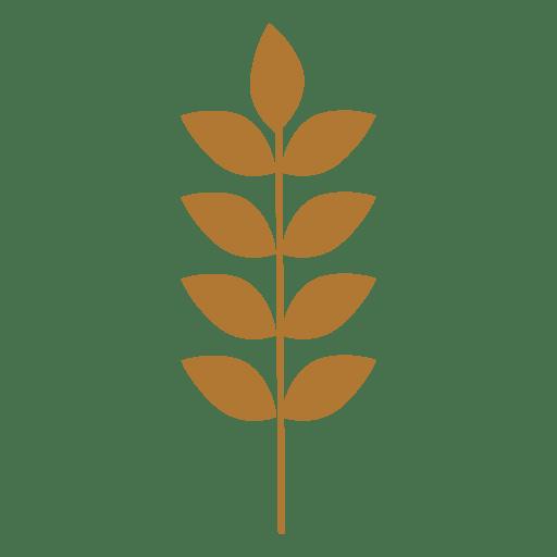 Sihouette de trigo Transparent PNG
