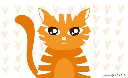 Ojos lindos gatito naranja