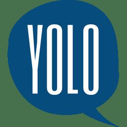 Yolo speech bubble