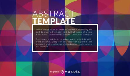 Abstract poster template in a retro style