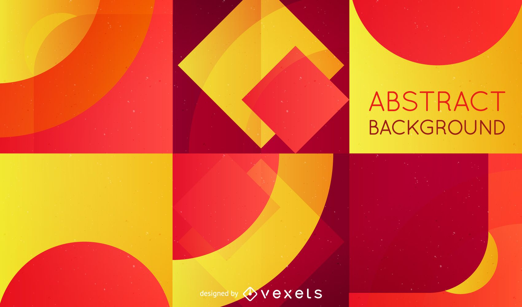 Abstract background with retro red and yellow shapes