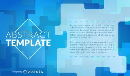 Blaues Plakatdesign mit dynamischen Formen