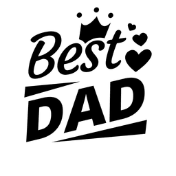 Best dad fathers day emblem