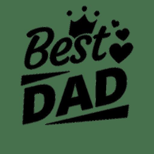 El mejor emblema del día del padre Transparent PNG