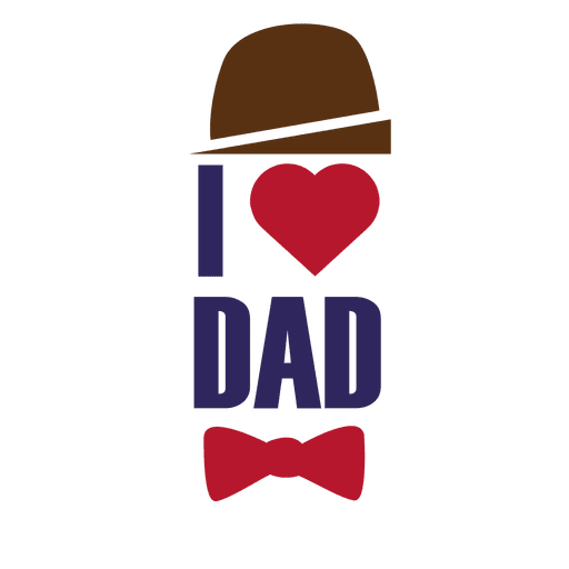 I love dad fathers day lettering Transparent PNG