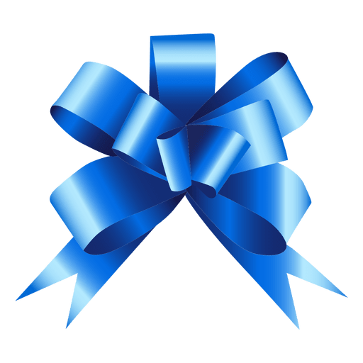 Blue bow gift - Transparent PNG & SVG vector