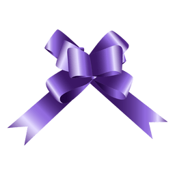 Bow purple gift