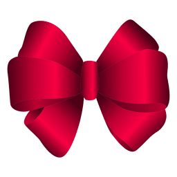 Red 3D bow