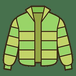 Chaqueta verde abrigo