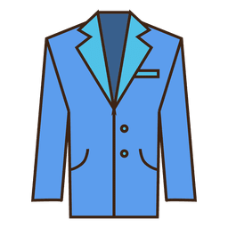 Blue suit icon