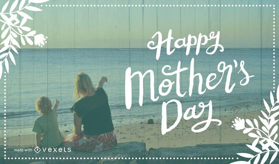 Fabricante feliz de la tarjeta del día de madre