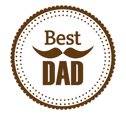Best dad round badge
