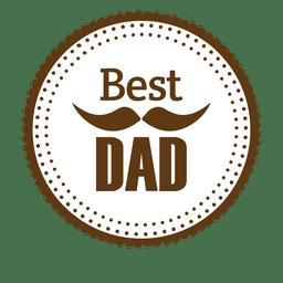 Melhor crachá redondo do pai