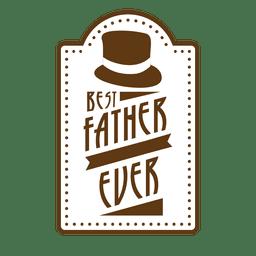 El mejor padre del vintage nunca insignia