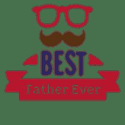 El mejor padre nunca insignia del día de padres