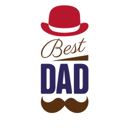 Fathers day best dad badge