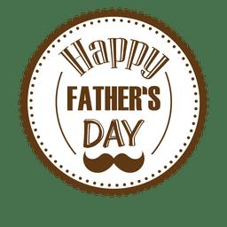 Emblema redondo feliz do dia dos pais