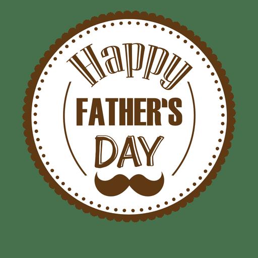 Feliz dia dos pais rodada crachá Transparent PNG