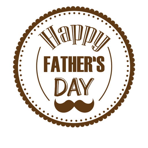Happy fathers day round badge Transparent PNG