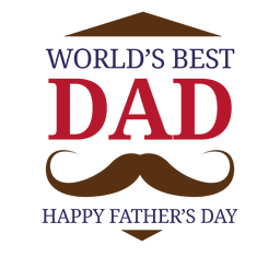 Worlds best dad fathers day badge