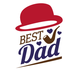 Fathers day best dad sticker