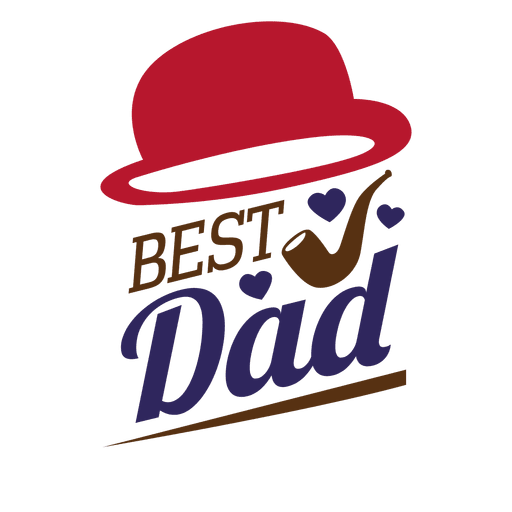 Fathers day best dad sticker Transparent PNG