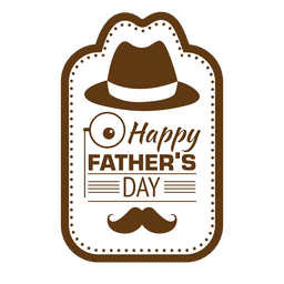 Fathers day happy vintage emblem