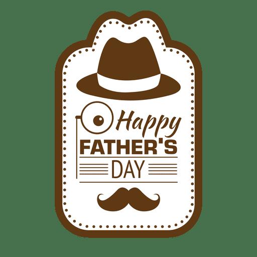 Día de padres feliz vintage emblema Transparent PNG