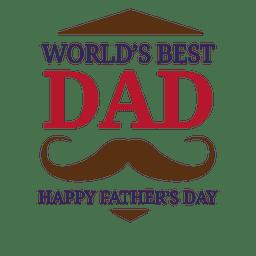 O melhor paizinho dos mundos do dia de pais badge