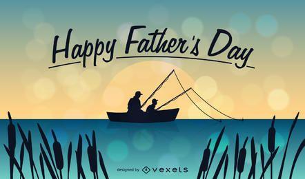 Ilustração feliz do dia de pai