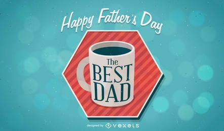 Design feliz do dia dos pais com caneca de café