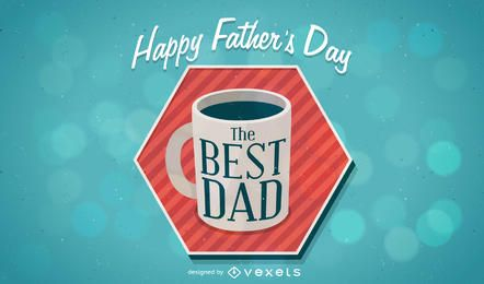 Happy Father's Day design with coffee mug
